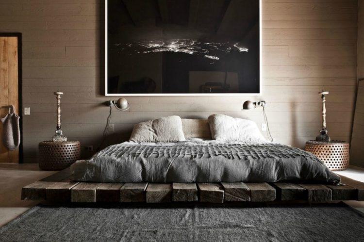 Спальня в деревенском стиле