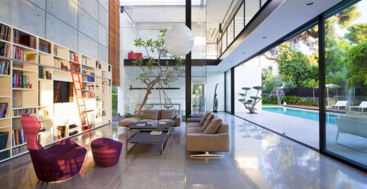 Современный стильный дизайн интерьера