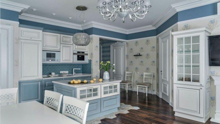 изайн интерьера кухни в современном классическом стиле фото