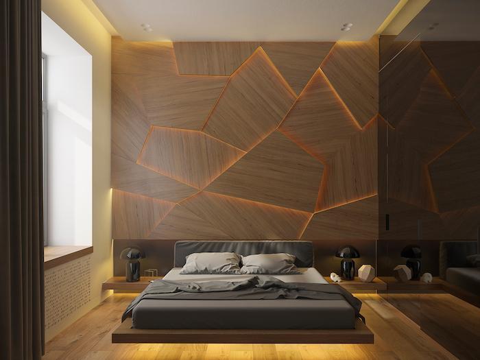 Чем украсить стену в спальне?