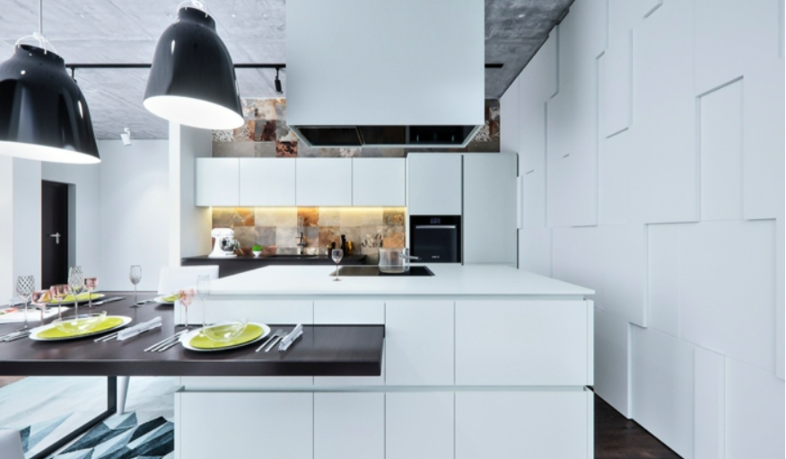Дизайн интерьера современных белых кухонь