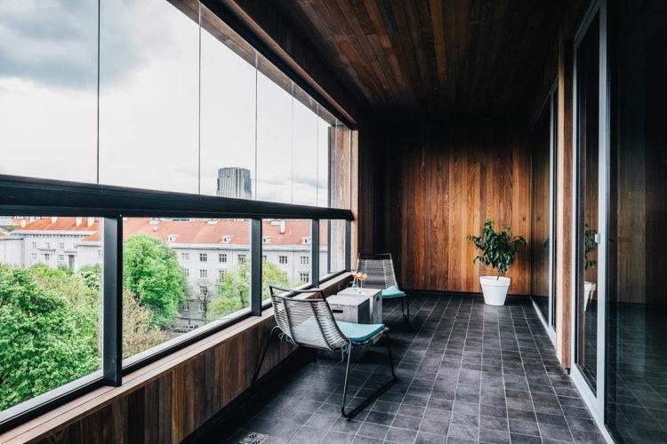 Балкон в скандинавском стиле
