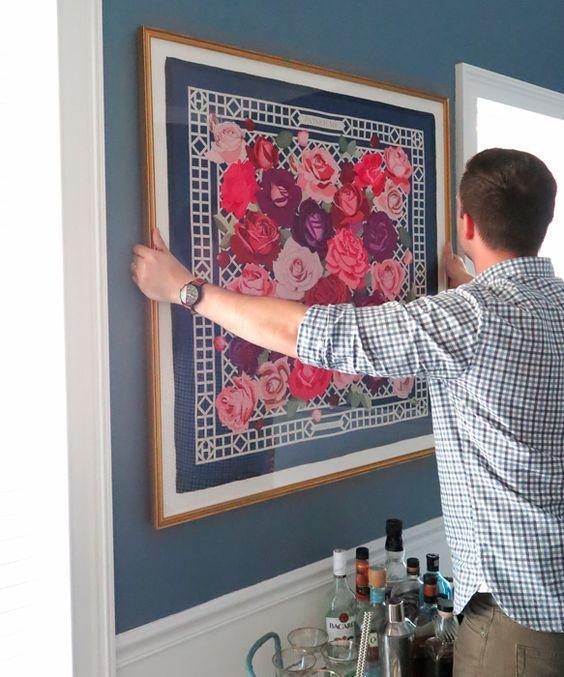 Картина из платка на стену