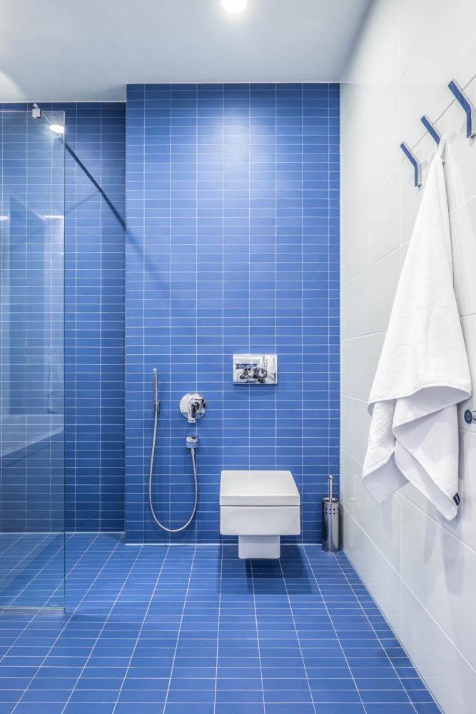 Ванная - душевая в скандинавском стиле