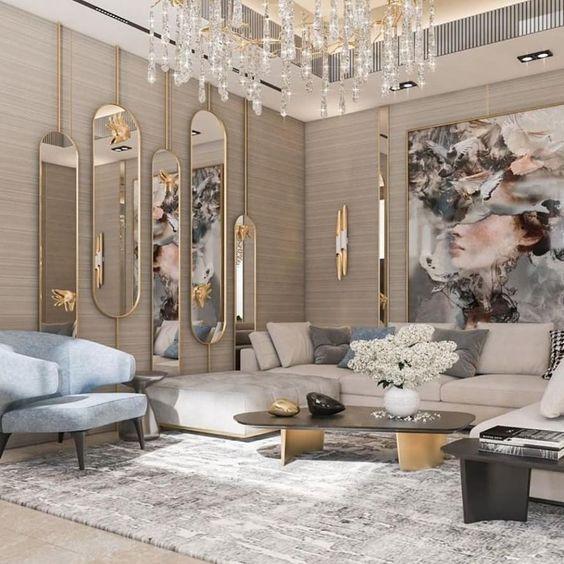 Светлая гостиная в современном стиле: 36 фото, советы, идеи