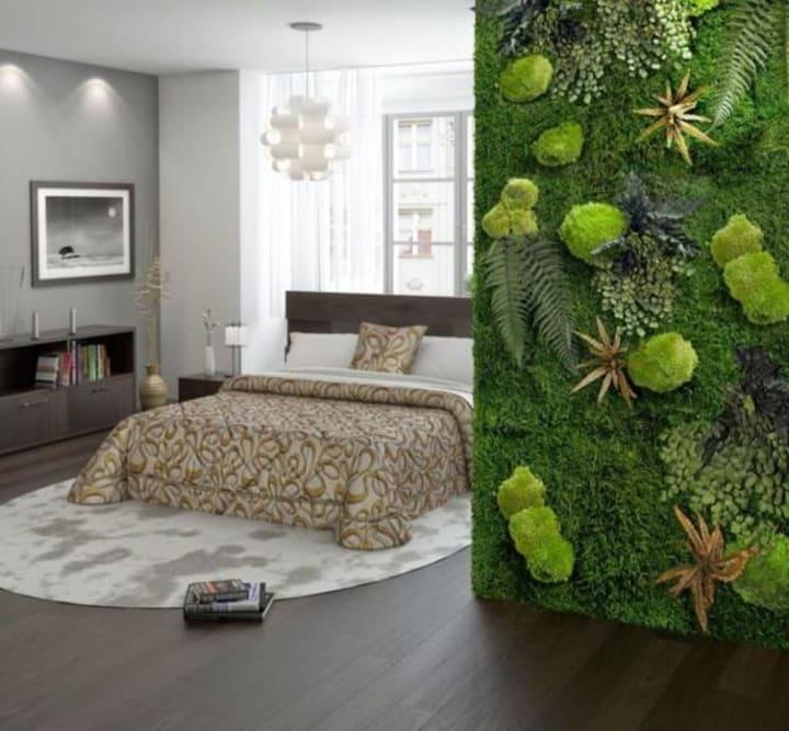 Живая стена в эко-стиле