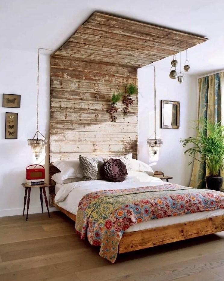 дизайн интерьера спальни в эко стиле